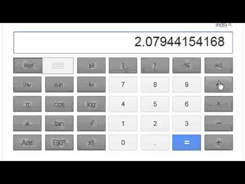 log2 (base 2 logarithm) using calculator