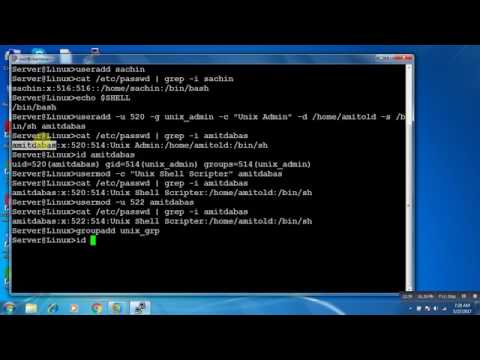 User Administration in RedHat Linux