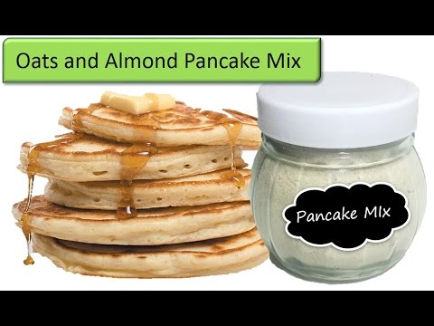 Homemade Oats and Almond  pancake mix | Protein breakfast for kids | RinkusRasoi