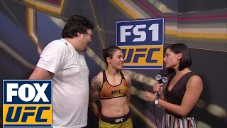 Jessica Andrade talked to Megan Olivi after her victory in Japan | UFC FIGHT NIGHT