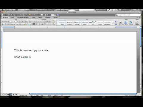 How to copy and paste on a mac (EASY/FAST)