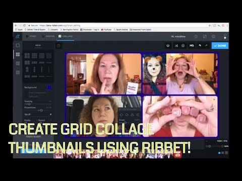 How to Create a Grid Collage Thumbnail Using FREE Online Ribbet | Tutorial