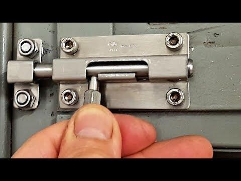 Como instalar colocar CERROJO seguridad en puerta metálica