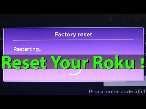 How To Factory Reset/Reboot Roku Streaming Media Player||Troubleshooting Roku
