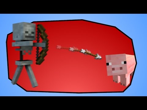 Minecraft - Make Skeletons shoot at Pigs (Hostile Mobs attacking any Entity)