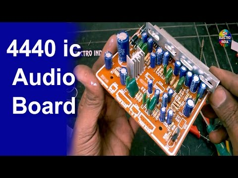 DIY Audio Amplifier Board 4440 IC | Mounting, Cutting, Soldering | Hindi Electronics | ELECTROINDIA