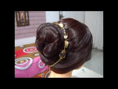 A simple, Easy, Quick and Beautiful Twisted Bun Hairstyle.