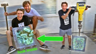 We BROKE the UNBREAKABLE BOX! *WON $10,000*