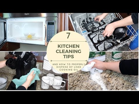7 KITCHEN CLEANING TIPS | HOW TO PROPERLY DISPOSE OF USED COOKING OIL | CLEANING MOTIVATION