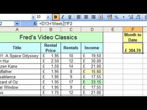 Microsoft Excel Tutorial for Beginners #32 - Worksheets Pt.2 - Calculations