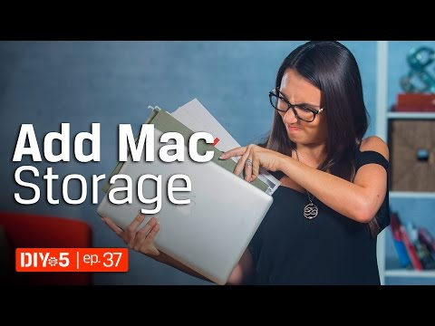 Mac Tips - Adding Flash Storage to a Mac Notebook 💻 DIY in 5 Ep 37