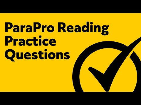 Free ParaPro Reading Practice Test
