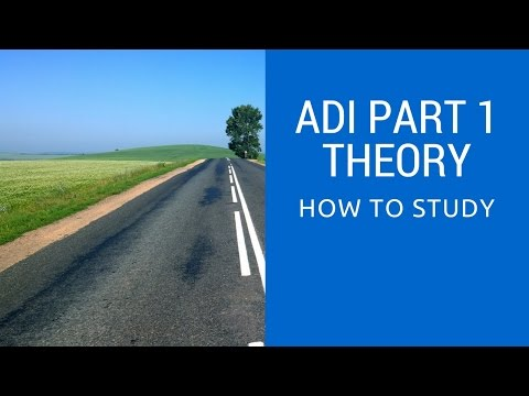 Studying for DVSA Driving Instructor Exams Part 1 Theory Test