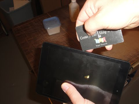 How To Open A Nextbook Android Tablet Case Without Damaging or Scratching Using A Credit Card