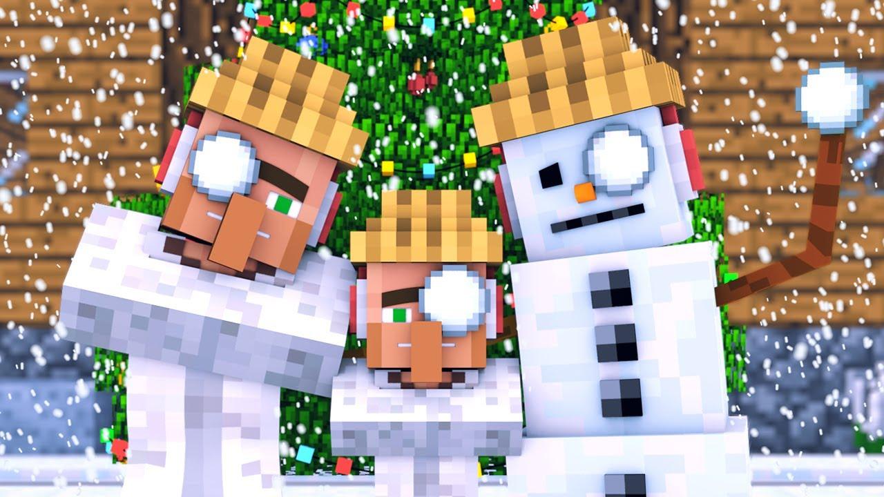 Download Snowman & Villager Life: FULL ANIMATION - Minecraft Animation MP3 Gratis