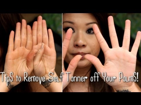 Removing Self Tanner From Your Hands!