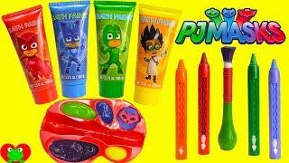 Preschool Learn Colors with PJ Masks Paints Catboy, Owlette, and Gekko