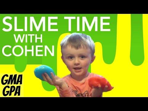 Grandma And Grandson Try Simple Recipe For Making Elmer's Glitter Glue Slime With Starter Pack