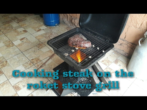Testing my rocket stove grill