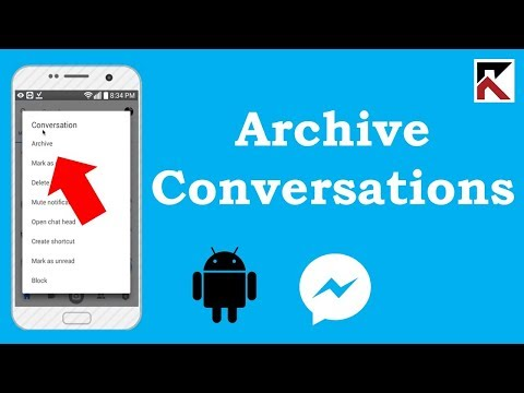 How To Archive Conversations On Facebook Messenger Android 2018