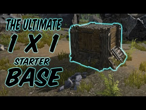 Ultimate Solo 1x1 Starter Base | ARK survival Evolved