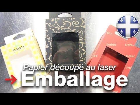 Emballage découpé au laser | Créez votre propre emballage | Papier découpé au laser