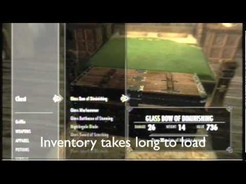 Skyrim inventory loading glitch