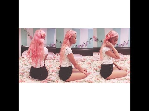 HAIR ☆ Manic Panic Virgin Snow & pastel pink.