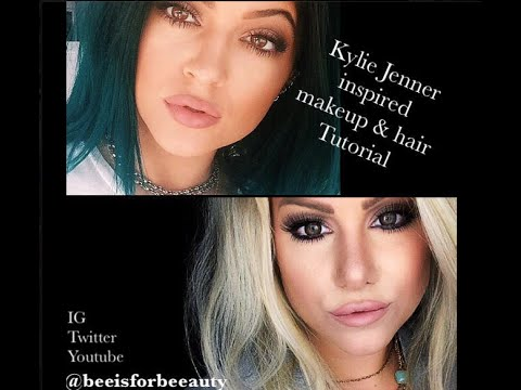 Kylie Jenner hair and makeup tutorial