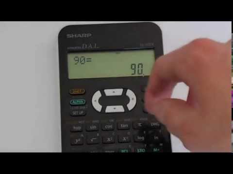 How to Convert Between Degrees, Radians and Gradians Using A Sharp EL 531 Calculator