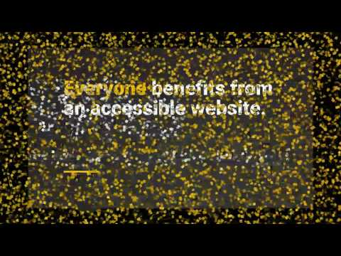 Accessible websites can't be achieved by just one person.
