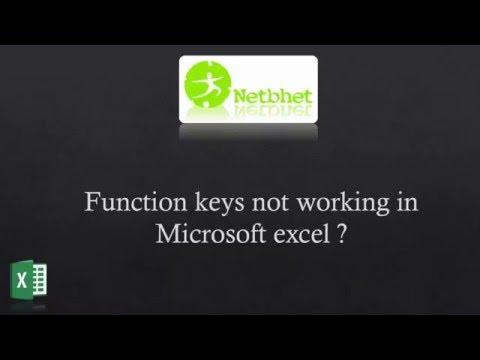 F Function Keys not working in microsoft excel 2007/2010/2013