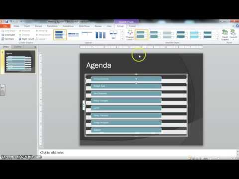 PowerPoint Project 7 2 Meeting Agenda Instructional Video