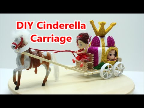 DIY Projects for Kids: How to Make a Princess Carriage for Dolls - Recycled Bottles Crafts Ideas