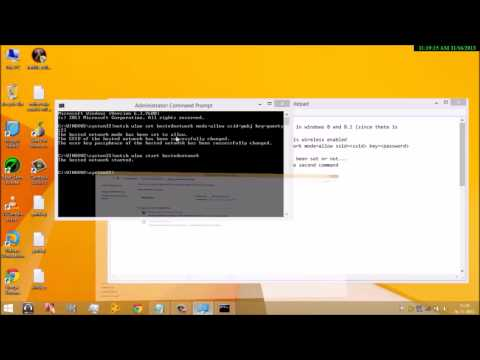 How to create AdHOC connection on Windows 8.1
