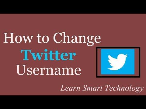How to Change Twitter Account Username | Change Twitter URL