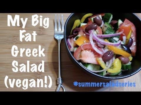 My Big Fat Greek Salad (vegan!) #summersaladseries
