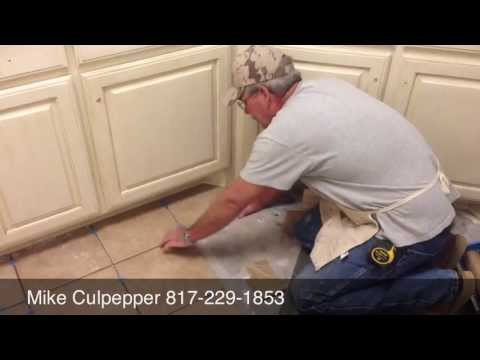 How To Make Multiple Crazy Cuts In One Piece Of Ceramic Tile / The Burleson Handyman