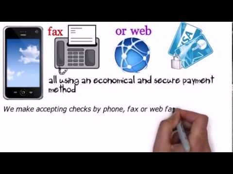 accept check by phone | accept check by web | accept check by fax