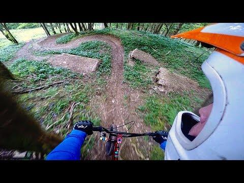 INSANE DOWNHILL MTB TRAILS ON A BMX