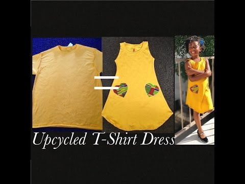 How To Make A Girls Dress From Mens Tee