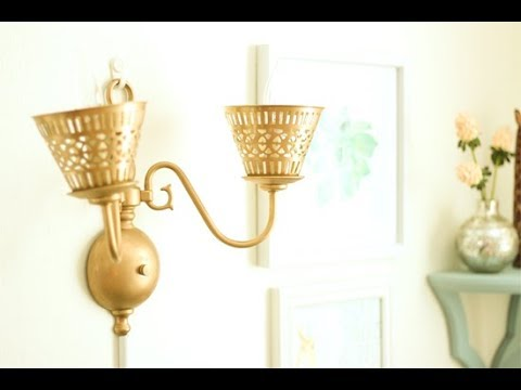 Change Wall Sconce to Plug-In Lamp