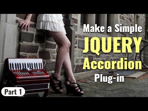 Learn  to make animating JQuery accordion plugin in Hindi - part 1/2