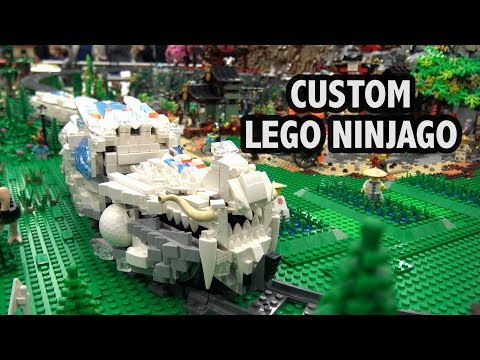 Custom LEGO Ninjago Village and Train | Bricks Cascade 2018