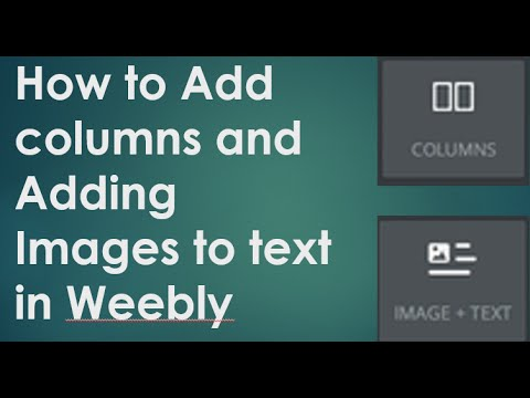 Weebly Adding columns and image to text