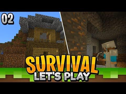 STARTER MINE! - Minecraft Survival Let's Play EP.2 (PE WIN10)