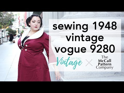 How to Sew V9280, Video Walkthrough   Vintage on Tap
