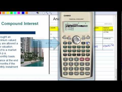 Compound Interest with CASIO Financial Calculator