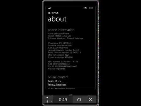 Nokia Lumia 525 window 8.1 GDR UPDATE 1