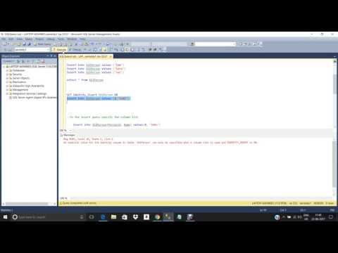 Identity Column in SQL Server